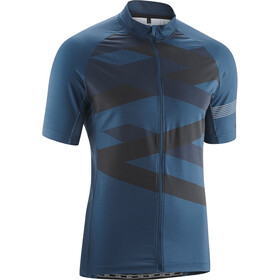 Gonso Obsid Fietsshirt korte mouwen Heren blauw/zwart